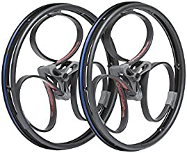 Loopwheels 24-Inch/19 mm Black Loops and Red Logos for Wheelchairs - 1 Pair