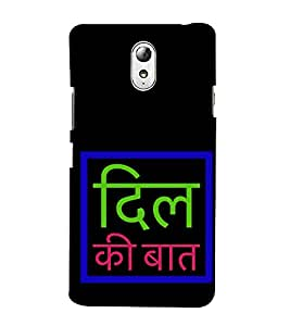 Dilli Ki Baat 3D Hard Polycarbonate Designer Back Case Cover for Lenovo Vibe P1M