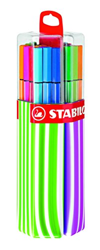 stabilo-pen-68-twin-pack-premium-felt-tip-pen-pink-green-box-of-20