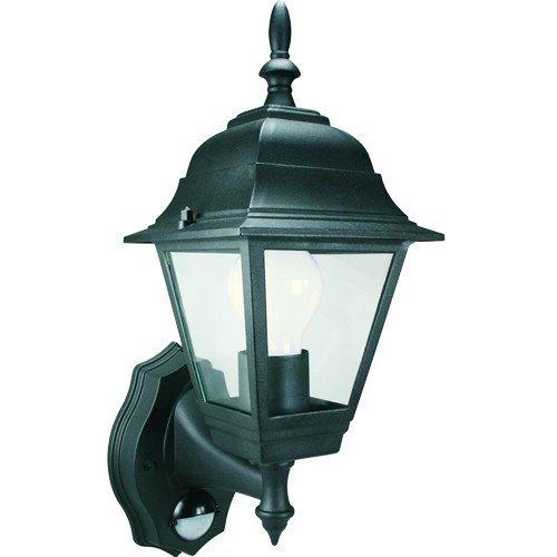 100W Garden Lanterne avec détecteur de lumière de sécurité Byron 4 lanternes Panneau Noir
