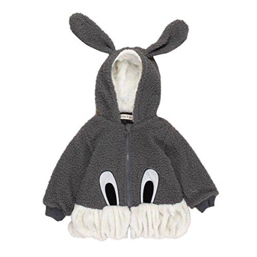 Culater® Bambino cappotti caldi Outwear coniglio inverno caldo incappucciato (120)