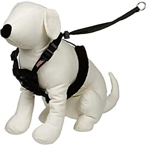Yuppie Puppy Non-Pull Mesh Harness, Large / XL - Black