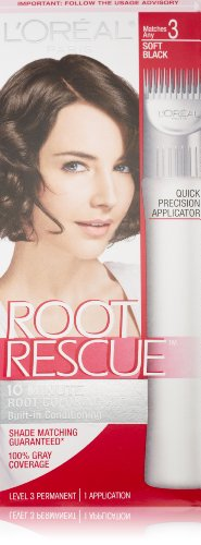 L'Oreal Paris Root Rescue Coloring Kit Soft Black