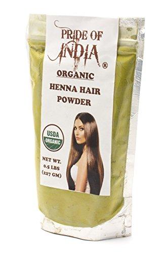 Pride Of India  Organic Henna Hair Powder Half Pound