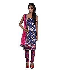 Mumtaz Sons Women's Cotton Unstitched Dress Material (MS111457C,Blue)