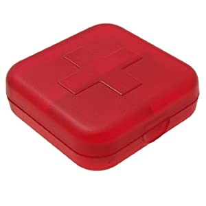 Plastic square cross pill box red kitchen - Accessori bagno plexiglass amazon ...
