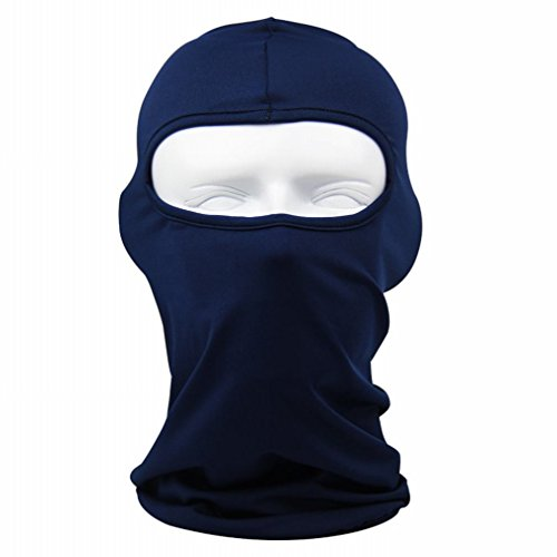 Rioriva Motorcycle Balaclava Winter Neck Warmer Ski Full Face Mask Cap Cover New (Lycra-navy),One Size,BF-10 (Ninja Climbing Gloves compare prices)