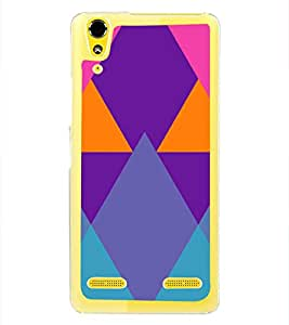 Colourful Rhombus Pattern 2D Hard Polycarbonate Designer Back Case Cover for Lenovo A6000 Plus :: Lenovo A6000+ :: Lenovo A6000