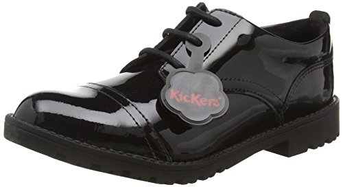Kickers Lachly Lace Juniors, Scarpe Derby da Ragazza', Nero (Black), 35