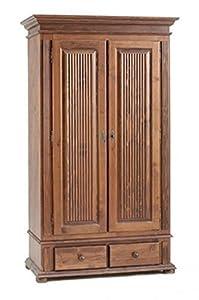 Dielenschrank Flurschrank Kleiderschrank 2-türig Massivholz FREIBURG colonial