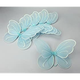 Party Favor Butterfly Wing (Set of 6) Color: Blue