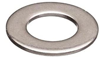 """Brass Flat Washer, Nickel Plated Finish, No. 8 Screw Size, 0.17"""" ID, 7/16"""" OD, 0.035"""" Thick (Pack of 100)"""