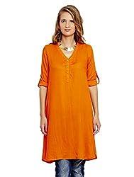 Jalebe Women's Tunic Dress_INDTJBS005_Orange_M