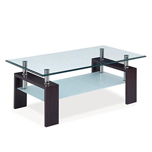 Modern Coffee Tables Usa: Global Furniture USA 2-Tier Glass-Top Coffee Table W