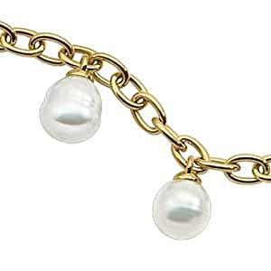 18K Yellow Gold Paspaley South Sea Cultured Fine Circle Pearl Bracelet - 8.5 inches -- LIFETIME WARRANTY