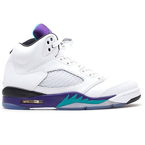 CYNGNM AIR JORDAN 5 RETRO GRAPE 2013 RELEASE 136027 108 White Men's Basketball Shoe (Grape Retro 13 Jordan Shoes compare prices)