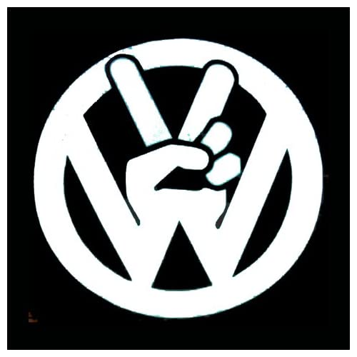 "Amazon.com: VW VOLKSWAGEN PEACE SYMBOL - Vinyl Decal Sticker 5"" WHITE"