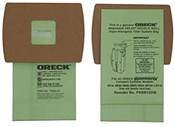 Oreck Commercial PKBB12DW Canister Vacuum Cleaner Bags, 12-Pk.