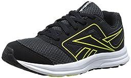 Reebok Zone Cushrun Running Shoe (Little Kid/Big Kid), Black/Gravel/Stinger Yellow/White, 2.5 M US Little Kid