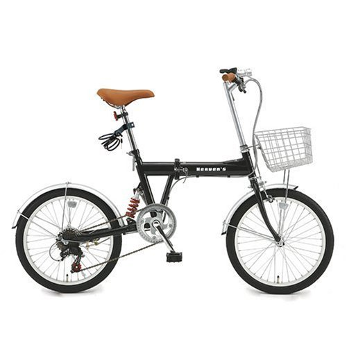 Bf-k206-bk Black Heaven Shimano 6-speed Folding Bike 20 Inches with a B-grow Heaven's Key / Car / Light