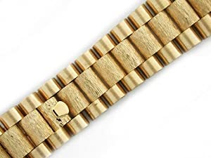 Mens 18ky All Gold President Band Center Bark Finish