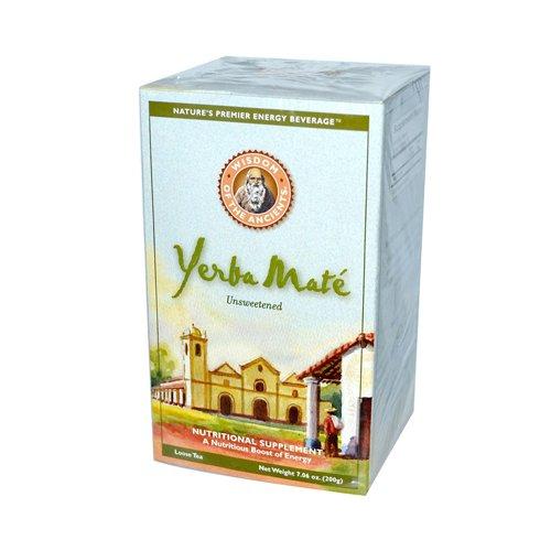 Wisdom Natural Yerba Mate Loose Tea Unsweetened -- 7 Oz