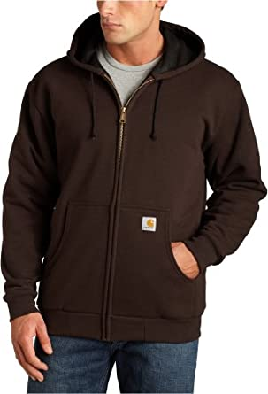 Carhartt Mens Thermal-Lined Hooded Zip-Front Sweatshirt J149 by Carhartt