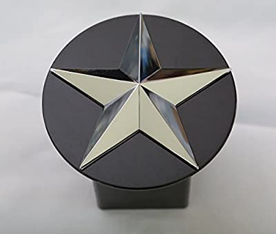"Texas Lone Star 3d Chrome Emblem Trailer Metal Hitch Cover Fits 2"" Receivers"