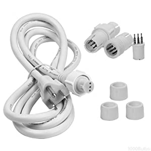 1 2 in 120 volt led rope light connector kit 3 wire includes 1 end cap 1 power. Black Bedroom Furniture Sets. Home Design Ideas