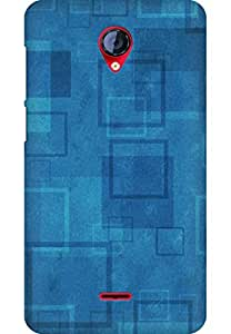 AMEZ designer printed 3d premium high quality back case cover for Micromax Unite 2 A106 (simple squares)