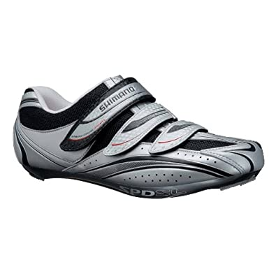 Shimano Men's Road Sport Cycling Shoes - SH-R077 (Silver - 48)