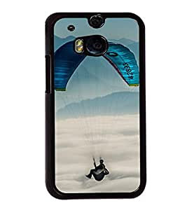 Paragliding 2D Hard Polycarbonate Designer Back Case Cover for HTC One M8 :: HTC M8 :: HTC One M8 Eye :: HTC One M8 Dual Sim :: HTC One M8s