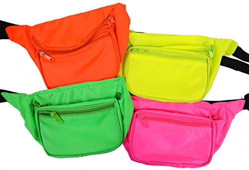 Neon Fanny Pack Green, Orange, Pink or Yellow