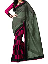 RGR Enterprice Woman's Bhagalpuri Designer Saree (Queen print_Multi-Coloured_Free Size)