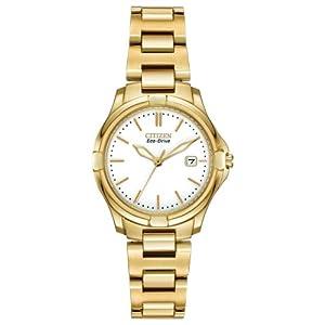 Citizen Women's EW1962-53A Silhouette Sport Analog Display Japanese Quartz Gold Watch