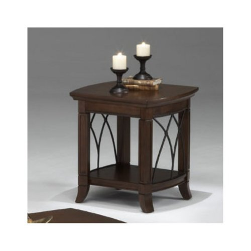 Cheap Bernards Cathedral Cherry with Metal End Table (B0043C63Y8)