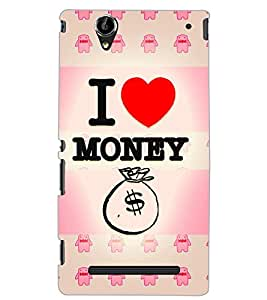 SONY XPERIA T2 ULTRA I LOVE MONEY Back Cover by PRINTSWAG