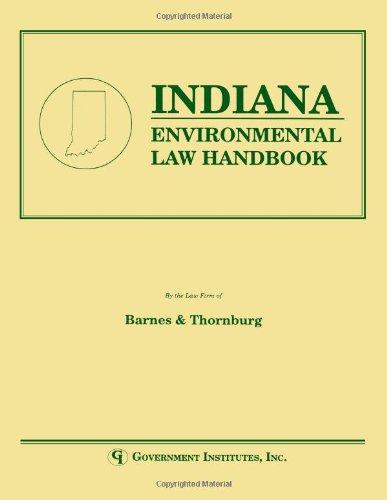 Indiana manual de derecho ambiental (manual de derecho ambiental estatal)