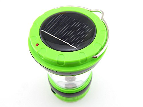 E-Age Solar Portable Led Camping Lantern Light With Cell Phone Charger Usb Outlet