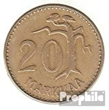 Finlandia km-No.. : 39 1954 muy ya Aluminio-Bronce 1954 20 Markkaa león en distrito (monedas para los coleccionistas)