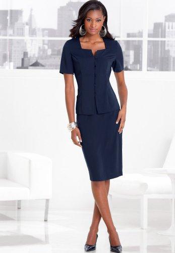 Short Sleeve Skirt Suit