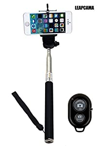 Leapcama(TM) New Design Self Portrait Self Shot Monopod Selfie Stick With Phone Holder For Samsung Galaxy S3 S4 Note 2 Note 3 iPhone 4/4s iPhone 5/5s/5c Blackberry With Bluetooth Remote Camera Wireless Shutter