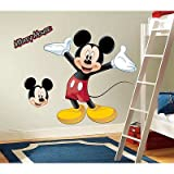 (27x40) Mickey & Friends - Mickey Mouse Peel & Stick Giant Wall Decal