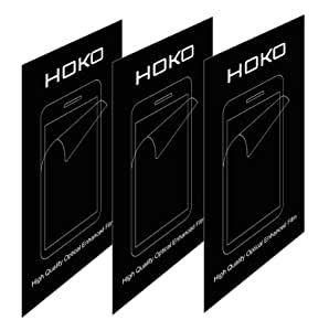 HOKO® Sony T2 Ultra Screen Protector, [HD Clear] [Three Layer] [PET Screen Guard Not Tempered Glass] [Rainbow free] Screen Guard for Sony Xperia T2 Ultra - Pack of 3