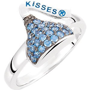 Sterling Silver September HERSHEY'S KISSES Cubic Zirconia Birthstone Ring