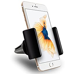 Car Mount, Vena AIR55 [One Hand][Air Vent] Universal Car Mount Holder for iPhone 7 7Plus SE 6S 6 Plus 5, Galaxy S7 S6 Edge S5 Note 7, LG G5 G4 Smartphones (3.5\