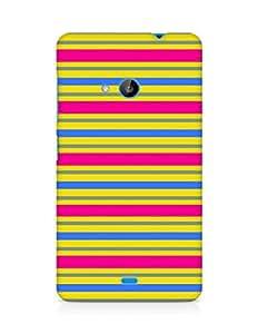 Amez designer printed 3d premium high quality back case cover for Microsoft Lumia 535 (Geometric Bright Pattern5)