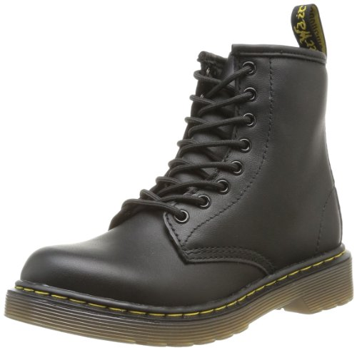 Dr. Martens Delaney Black Softy, Scarpe Brogue Stringate Unisex - Bambini, Nero, 28