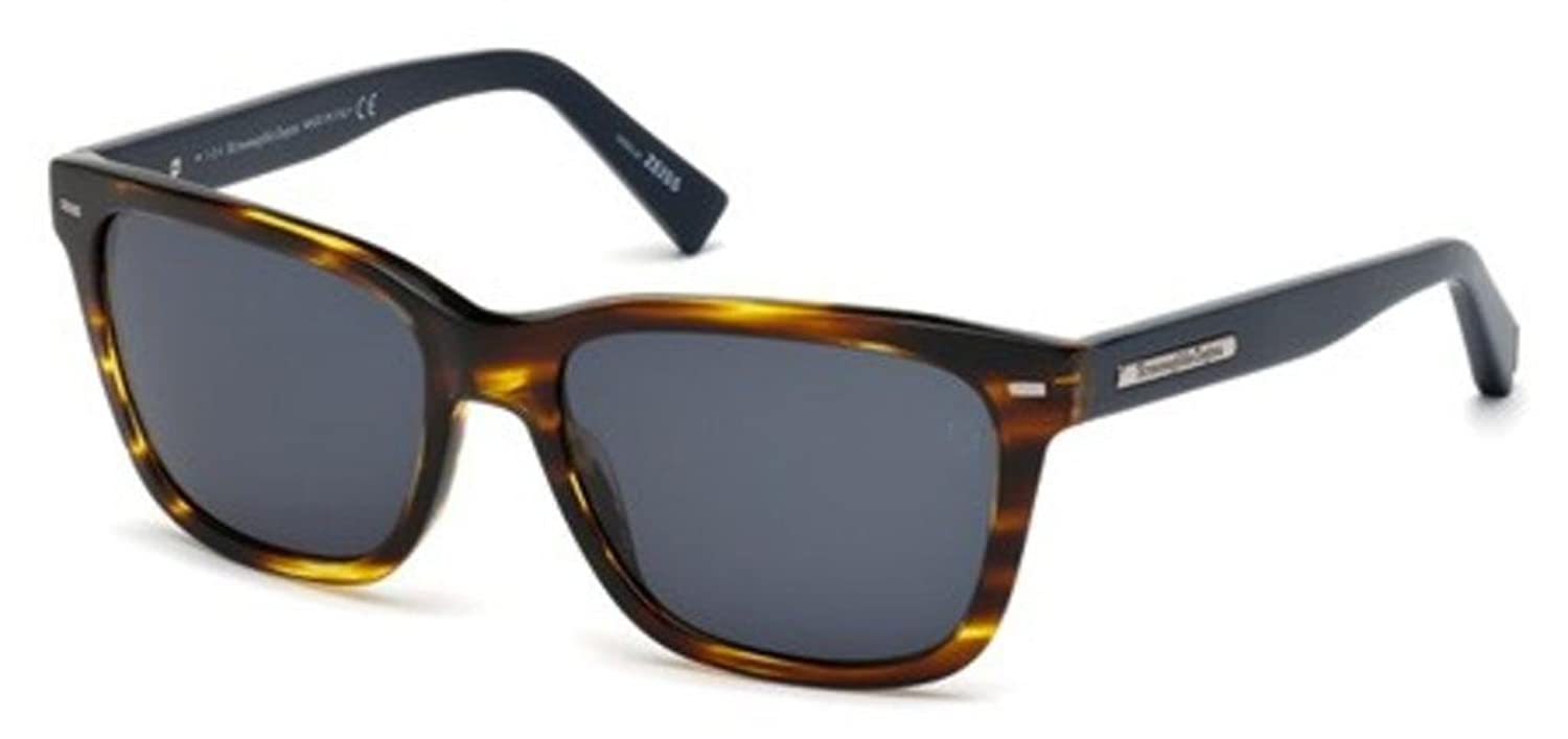 Sunglasses Ermenegildo Zegna EZ 2 EZ0002 50V dark brown/other / blue настенный светильник azteca sonex 1071155