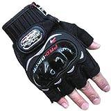 Benjoy Pro Biker Bike Riding Half Gloves (Size M ,Colour BLACK) For Honda Dream Neo